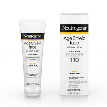 (2 pack) Neutrogena Age Shield Face Sunscreen SPF 110, 3 fl. (Best Chemical Sunscreen For Face)