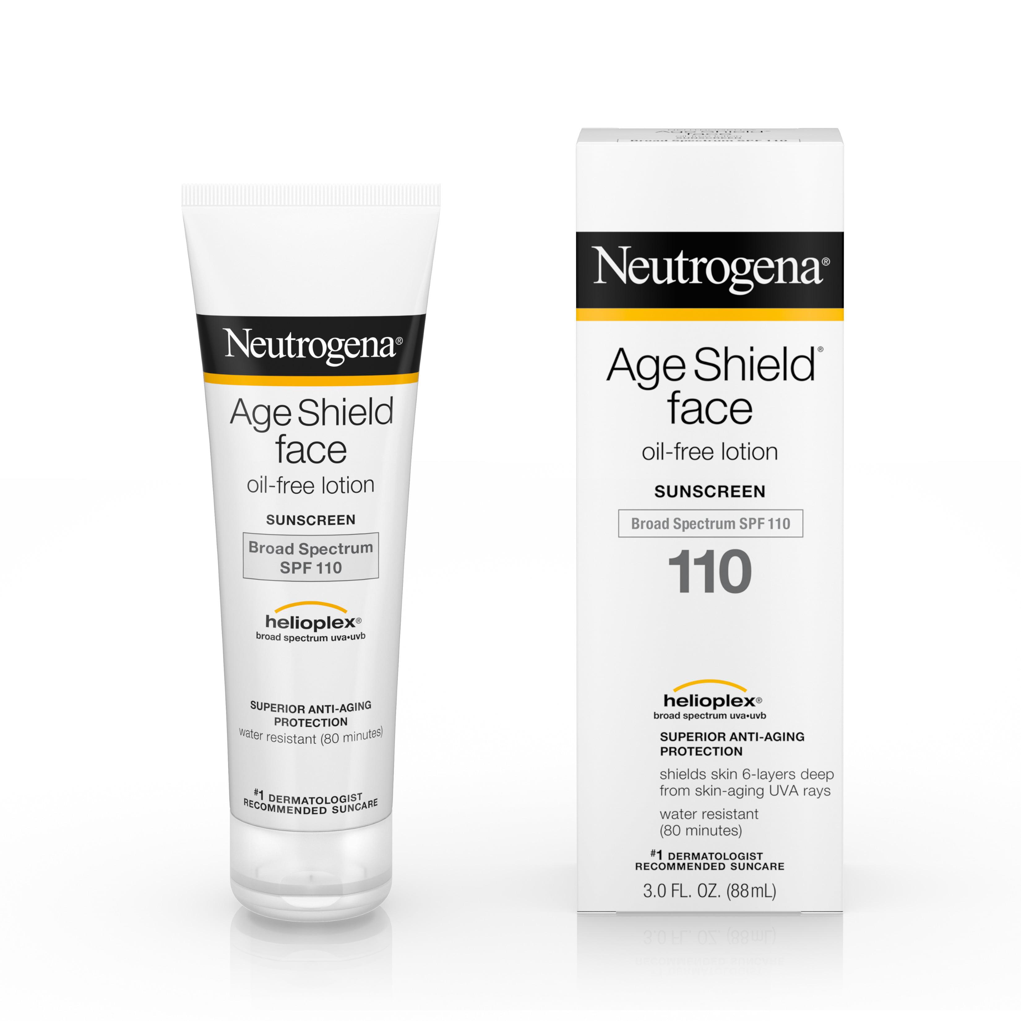 (2 pack) Neutrogena Age Shield Face Sunscreen SPF 110, 3 fl. oz