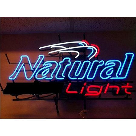 "Desung Brand New Natural Light Neon Sign Lamp Glass Beer Bar Pub Man Cave Sports Store Shop Wall Decor Neon Light 17""x 13"" WM34"