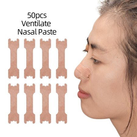 50pcs Anti-snoring Strips Easier to Breathe Right Best Way to Stop Snoring Nasal Strips for Better Breath - image 4 of 5