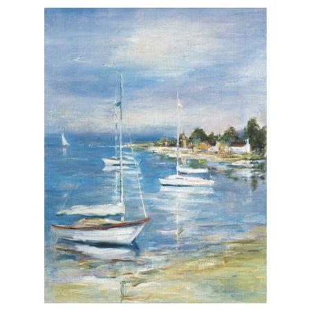 Masterpiece Art Gallery Dream Cove II Coastal Sailboats By Marysia Burr Canvas Art Print 30