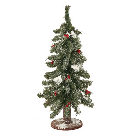 "Walmart Seller Central >> 18"" Flocked Red Berry Pine Mini Village Artificial Christmas Tree - Unlit - Walmart.com"
