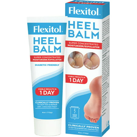Foot Balm 2 Oz Tin - Flexitol Heel Balm 4 oz (Pack of 2)