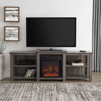 "Manor Park Tiered Top Open Shelf Fireplace TV Stand For TV's up to 78"" - Multiple Finishes"