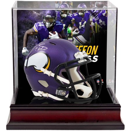 Stefon Diggs Minnesota Vikings Autographed Riddell Speed Mini Helmet with Deluxe Mini Helmet Case - Fanatics Authentic Certified - Real Viking Helmet For Sale