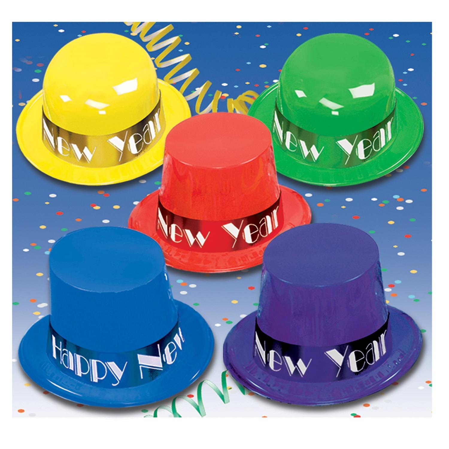 """Club Pack of 25 Festive """"Happy New Years"""" Showtime Party Favor Hats"""
