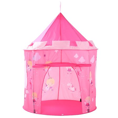 (Moaere Foldable Teepee Tent Kids Classic Play Castle Land Kids Tabernacle Indoor Playhouse Camping Playground Stimulate Pretend and Imaginative Play)