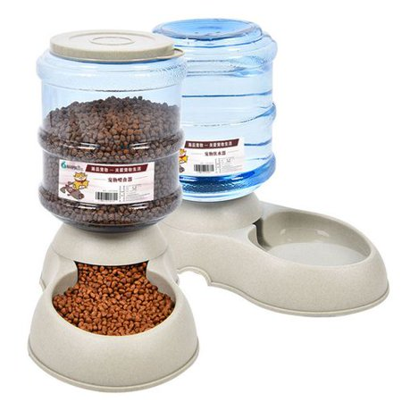 KABOER Self-Dispensing Gravity Pet Feeder and - Feeder Waterer