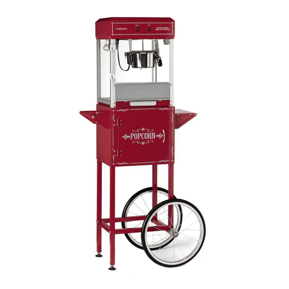 Cuisinart Kettle Style Popcorn Maker Trolley, Red by Conair