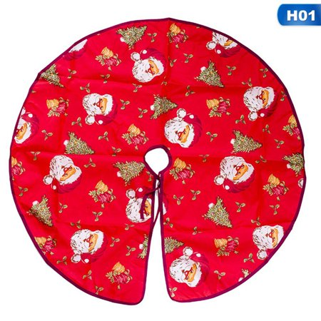 AkoaDa Unique  Hot Sale New Christmas Soft Santa Tree Skirt Base Floor Mat Cover Xmas Party Decor Ornament