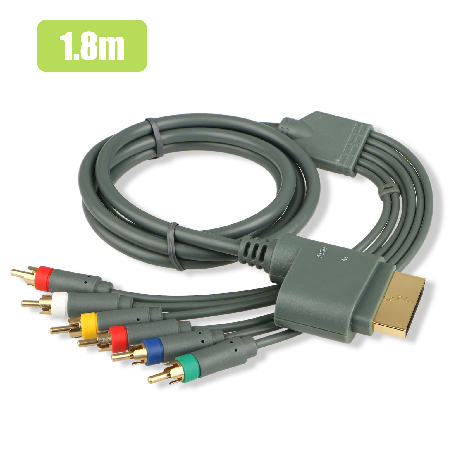 EEEKit TV Component Composite Audio Video Cable HDTV/EDTV  AV Cord Color Code Connector with Flexible PVC Jacket Support High Definition Video Switch for Microsoft Xbox 360