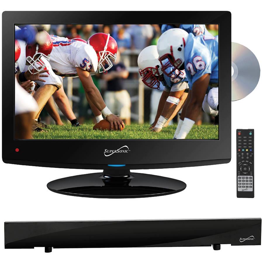 "Supersonic 15.6"" Class - HD LED TV/DVD Combo - 720p, 60Hz (SC-1512) and SC-612 HDTV Flat Digital Antenna"