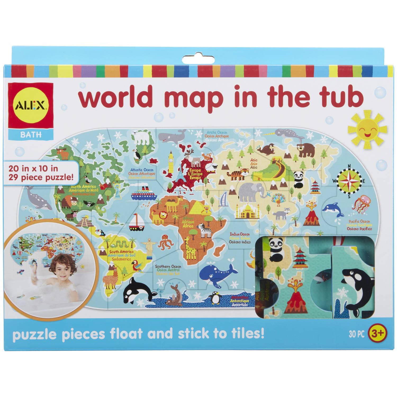 ALEX Bath World Map in the Tub by ALEX Toys