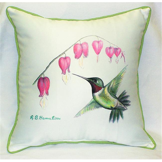 Betsy Drake HJ030 Hummingbird Art Only Pillow 18''x18''