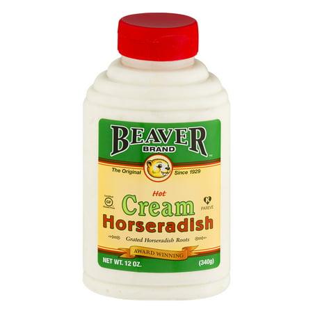 (2 Pack) Beaver Brand: Hot Cream Horseradish, 12 Oz - Horseradish Cream Sauce