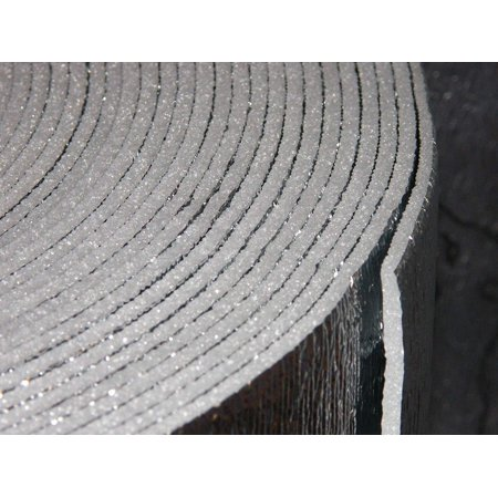 6inch x 25ft (6x25) NASATECH Reflective Foam (not cheap bubble) Spiral Duct Wrap Seam Sealer Pipe Wrap Faucet Insulation Weatherization (6