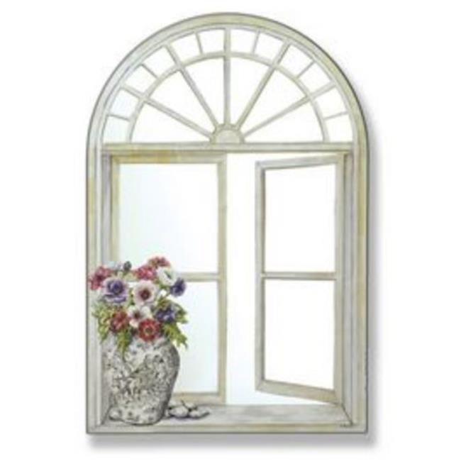 Stupell Industries MR-47 Mirror Window Scene with Toile Vase
