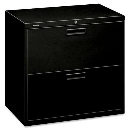 Hon 500 Series Two Drawer Lateral File  30W X 19 1 4D X 28 3 8H  Black