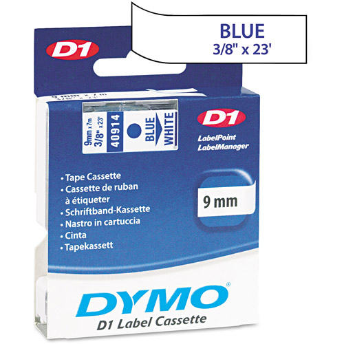DYMO D1 Standard Tape Cartridge for Dymo Label Makers, Blue on White