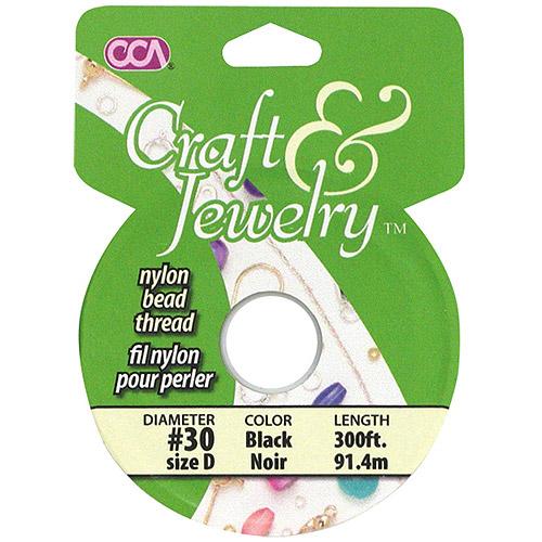 Cousin Craft & Jewelry Nylon Beading Cord #30, 300'