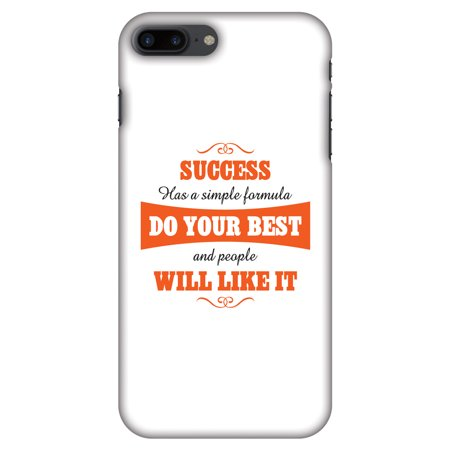 iPhone 7 Plus Case, iPhone 7 Plus Case - Success Do Your Best,Hard Plastic Back Cover, Slim Profile Cute Printed Designer Snap on Case with Screen Cleaning
