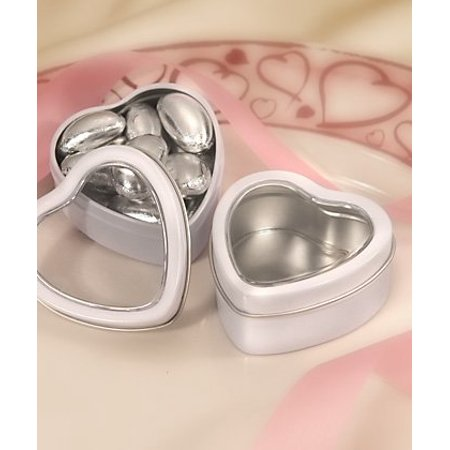White Heart Mint Tin