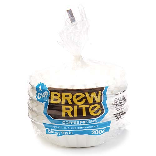 Brew Rite 4-Cup Coffee Filters, Basket Style