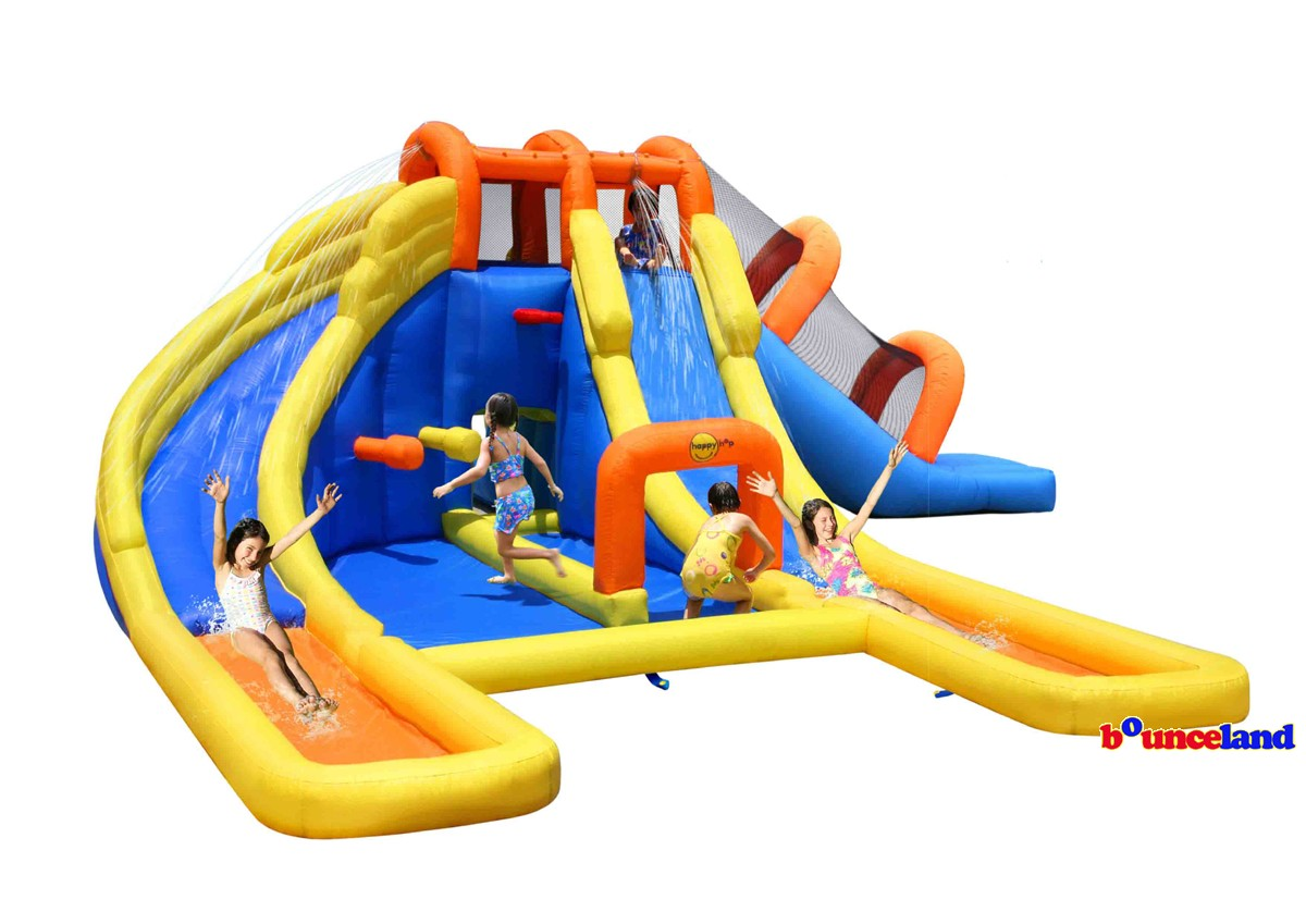 Bounceland Big Splash Triple Waterslides and Pool Water Park by Overstock