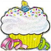 Sparkle Accents Birthday Cupcakes-24/Pk 5-1/2
