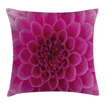 Floral Throw Pillow Cushion Cover, Close-Up Flower Petals Florets Nature Beauty Fragrance Botany Bloom Fresh Picture, Decorative Square Accent Pillow Case, 18 X 18 Inches, Magenta, by Ambesonne (Fragrance Pillow)