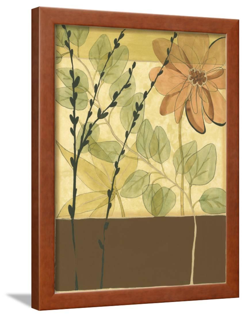 Printed Tranquil Garden I Framed Print Wall Art By Jennifer ...