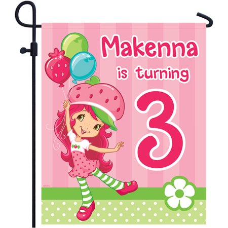Personalized Strawberry Shortcake Birthday Balloons Yard Sign