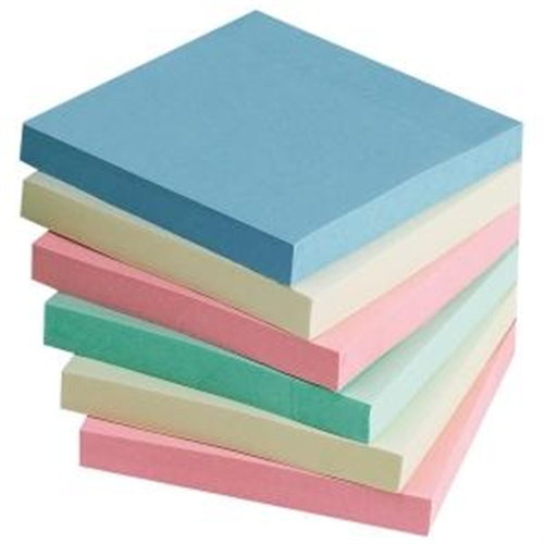 Sparco Products Adhesive Notes, 3''x3'', 12-Pack, 100 Sheets/Pad, Assorted Pastel