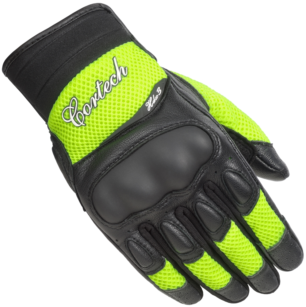 Cortech HDX 3 Womens Vented Motorcycle Gloves Hi Viz Yellow/Black