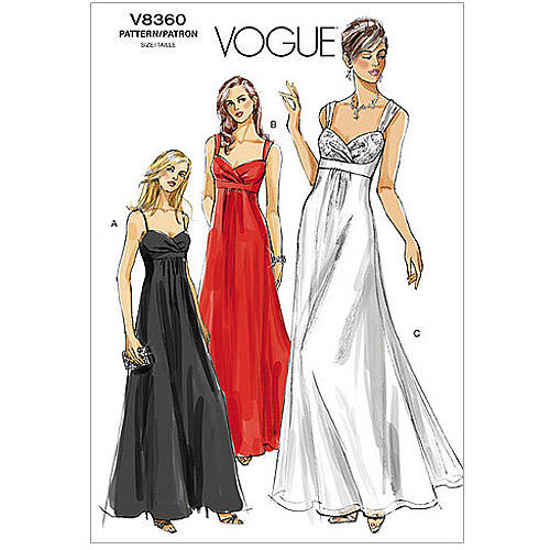 Vogue Misses' Dress-fw (18-20-22)