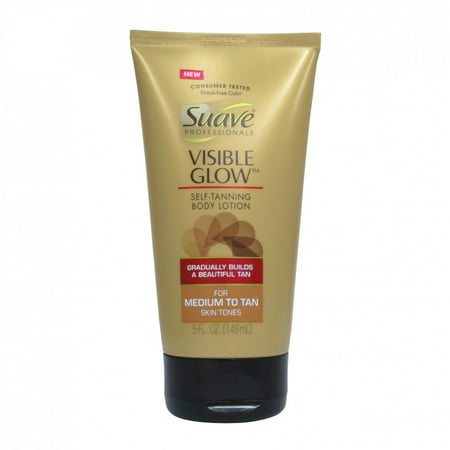 Suave Professionals Visible Glow Self Tanning Body Lotion, Medium to Tan 5