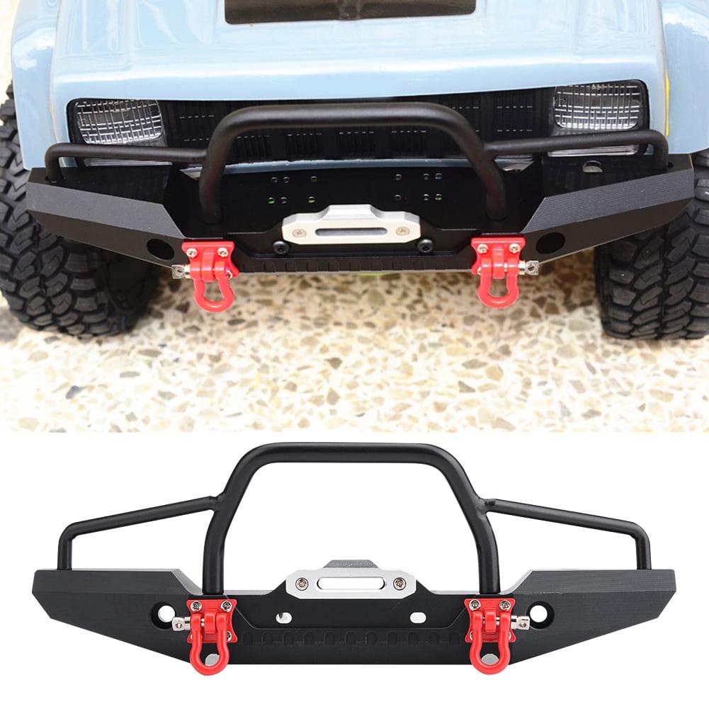1//10 RC Crawler Metal Front Bumper LED Light for Traxxas TRX-4 SCX10II 90046 Car