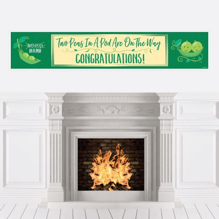 Double the Fun - Twins Two Peas in a Pod - Baby Shower Decorations Party Banner](Twins Baby Shower)