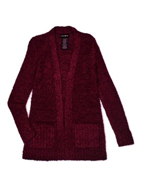 Forever and Ever Girls Boucle Long Open Cardigan with Lurex, Sizes 4-18 & Plus