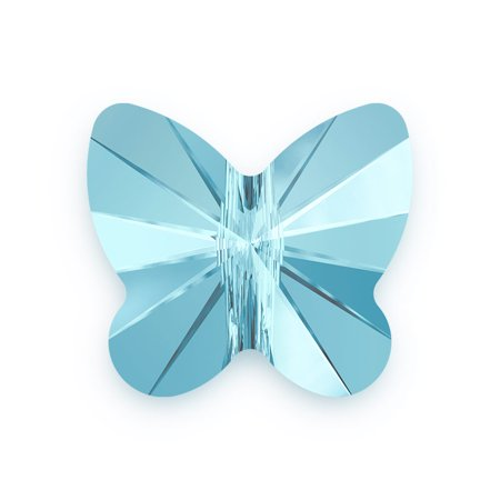 Swarovski Butterfly Bead 5754 8mm Aquamarine (Package of 1) Aquamarine Satin Swarovski Crystals