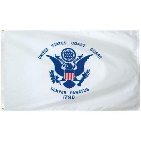 Eder Flag 70054 3 x 5 ft. 200 Denier Nylon Coast Guard Outdoor Flag