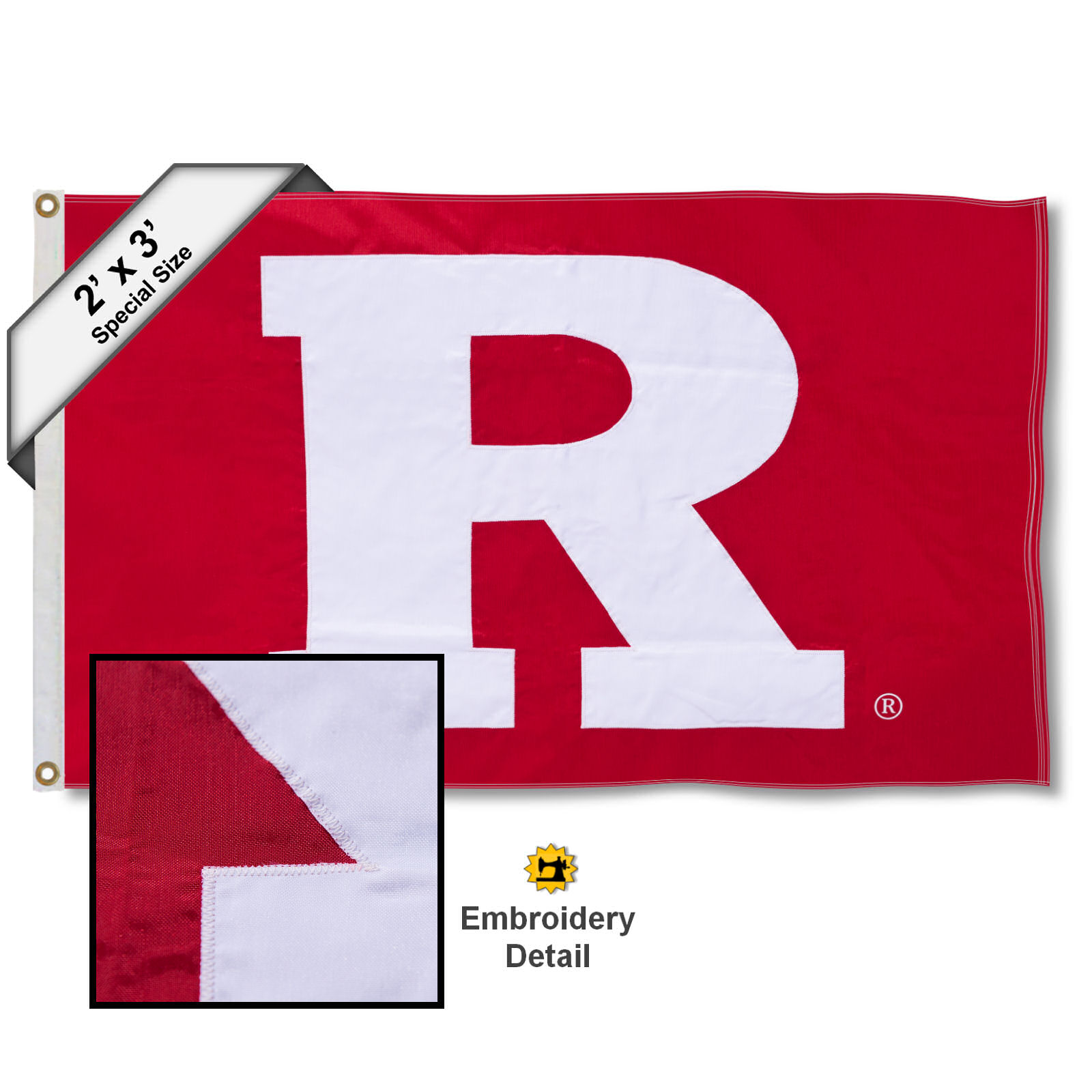 Rutgers Scarlet Knights 2' x 3' Applique Flag