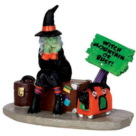 Lemax 42204 STRANDED WITCH Spooky Town Figurine Halloween Decor Figure I (Halloween Town 1)