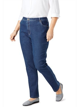 ebe73b402ca Product Image Woman Within Plus Size Tall Straight Leg Stretch Jean