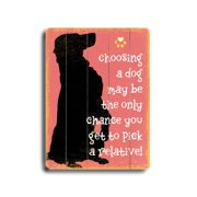 Artehouse LLC Pick a Relative Planked by Kate Ward Thacker Graphic Art Plaque