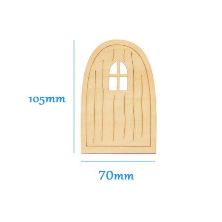 10pcs Wooden Fairy Pixie Door Blank Plaque Hanging Decoration Craft DIY Sign Set - image 8 of 8