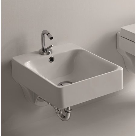 WS Bath Collections Cento Ceramic 12.2'' Wall Mounted (Mounted Bidet)
