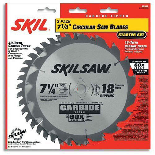 Skil 75312 7-1 4 in. 18-Tooth & 40-Tooth Circular Saw Blades (2-Pack) by Bosch/rotozip/skil