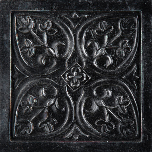Emser Tile Camelot 4'' x 4'' Guinevere Deco in Iron