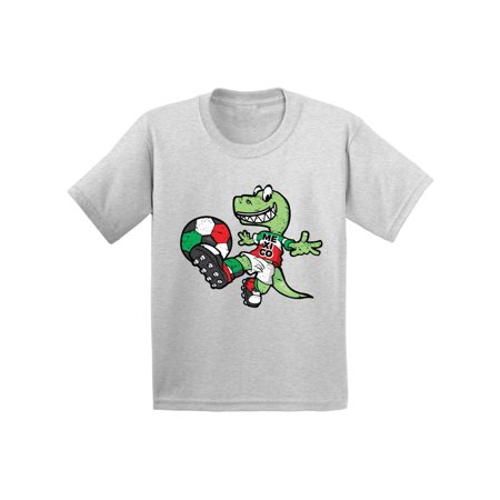 Awkward Styles Mexico Soccer Toddler Shirt Kids Dinosaur Mexico Football Shirt](Kids Football Suits)